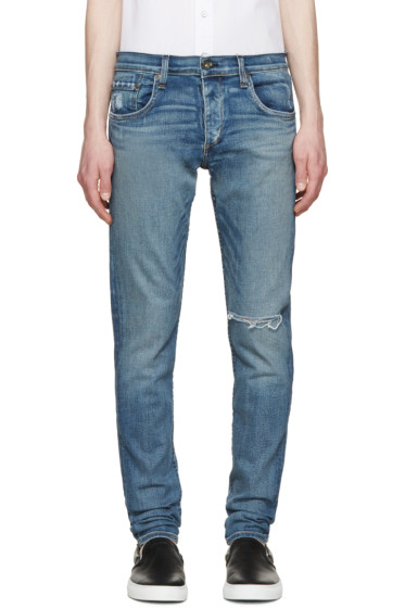 Rag & Bone - Blue Distressed Fit 1 Jeans