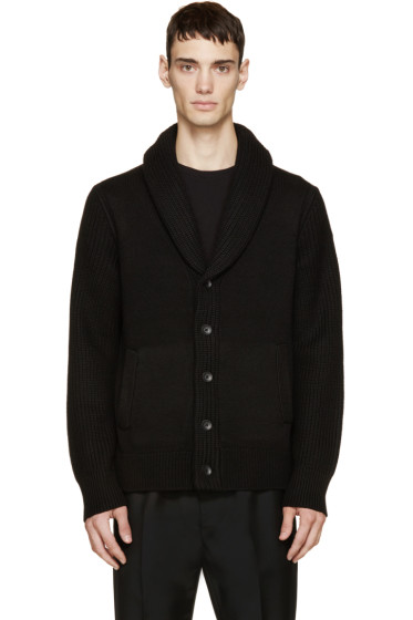 Rag & Bone - Black Wool Curtis Cardigan