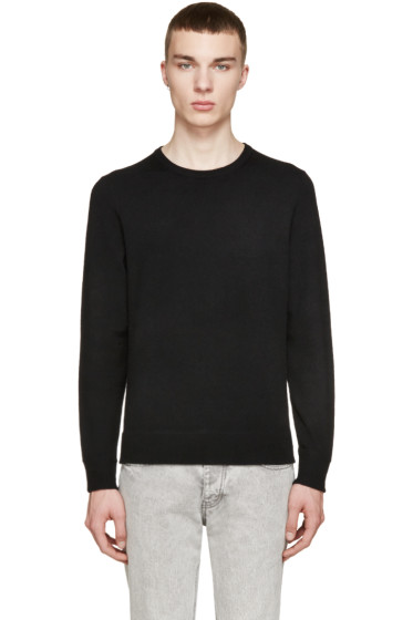 Rag & Bone - Black & Grey Merino Nathan Sweater