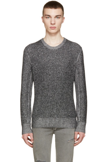 Rag & Bone - Black & White Marled Vincent Sweater