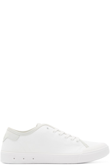 Rag & Bone - White Standard Issue Low-Top Sneakers