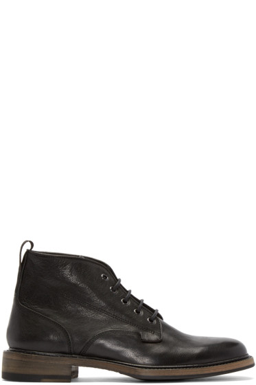 Rag & Bone - Black Leather Spencer Boots