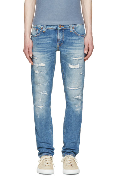 Nudie Jeans - Blue Ben Replica Long John Jeans