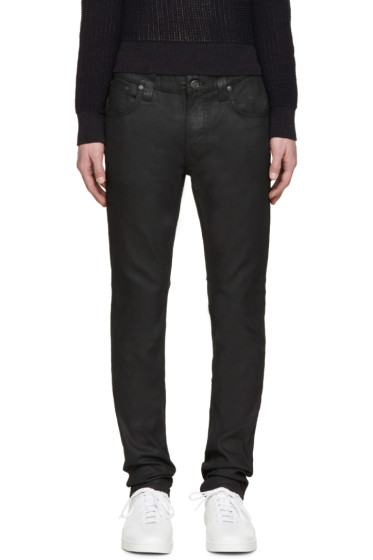 Nudie Jeans - Black Thin Finn Jeans