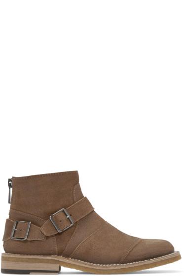 Belstaff - Tan Suede Trailmaster Boots