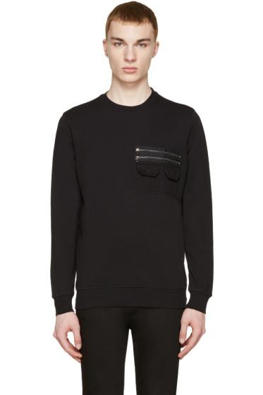 Diesel Black Gold - Black Zip Pocket Pullover