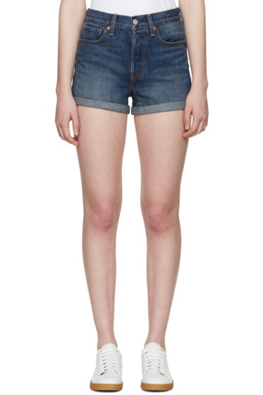 Levi's - Indigo Denim Wedgie Shorts