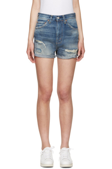 Levi's Vintage Clothing - Blue Daisy 701 Cutter Shorts