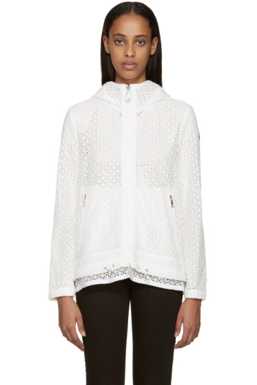 Moncler - White Broderie Anglaise Rombou Jacket