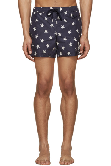 Moncler - Navy Star Print Swimsuit