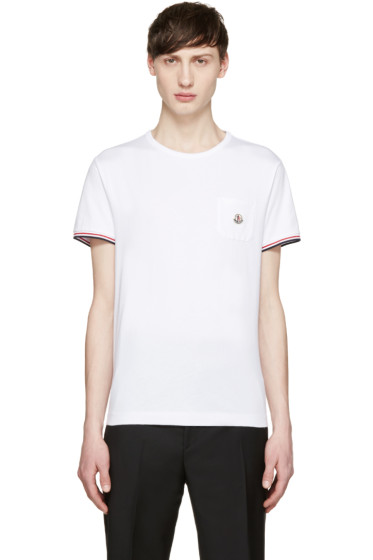 Moncler - White Pocket T-Shirt