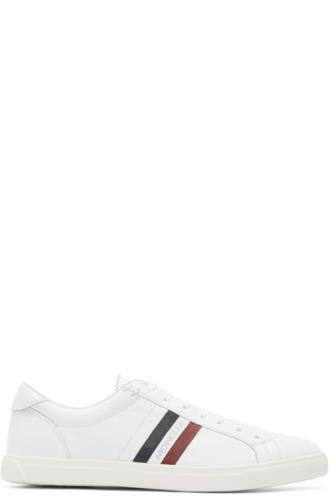 Moncler - White Striped Sneakers
