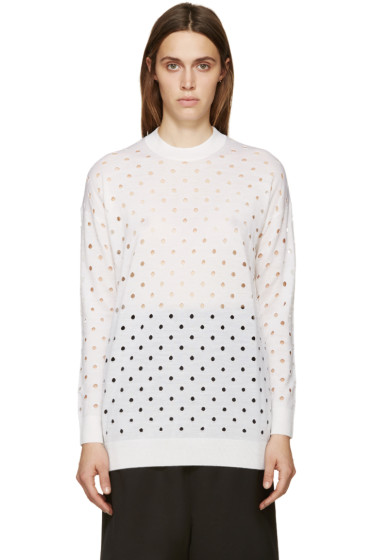 McQ Alexander Mcqueen - Ivory Perforated Sweater