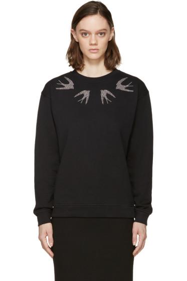 McQ Alexander Mcqueen - Black Studded Swallow Sweatshirt