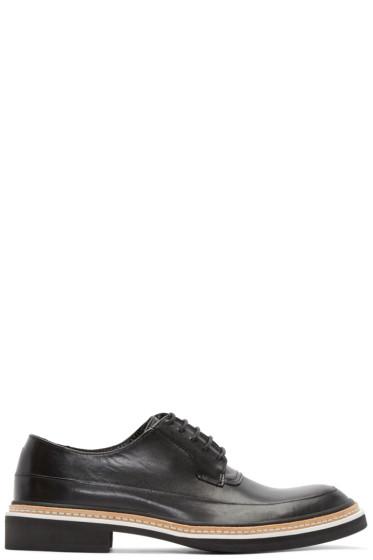 McQ Alexander Mcqueen - Black Leather Columbia Derbys
