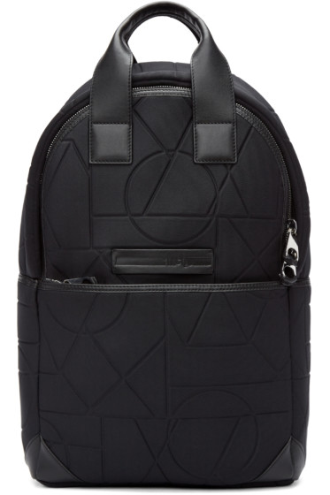 McQ Alexander Mcqueen - Black Embossed Neoprene Backpack