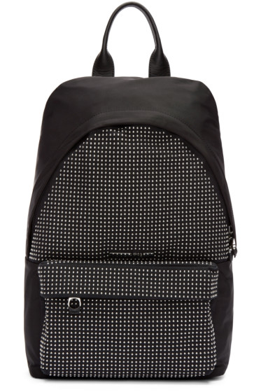 McQ Alexander Mcqueen - Black Nylon Studded Backpack