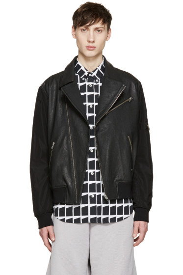 McQ Alexander Mcqueen - Black Leather Biker Jacket