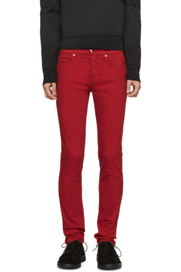 McQ Alexander Mcqueen - Red Skinny Jeans