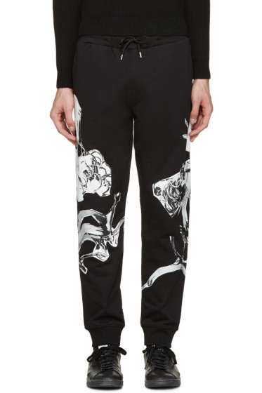 McQ Alexander Mcqueen - Black Graphic Print Lounge Pants