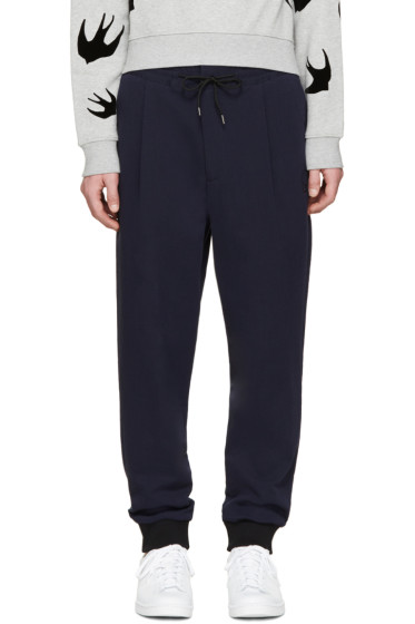 McQ Alexander Mcqueen - Navy Pleated Trousers