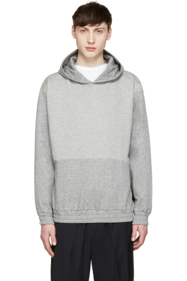 McQ Alexander Mcqueen - Grey Stripe Hoodie