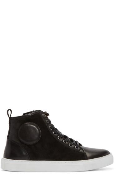 McQ Alexander Mcqueen - Black Suede High-Top Sneakers