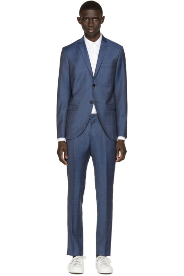 Tiger of Sweden - Blue Windowpane Jil Suit