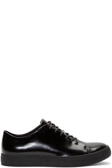 Tiger of Sweden - Black Leather Yngve Low-Top Sneakers