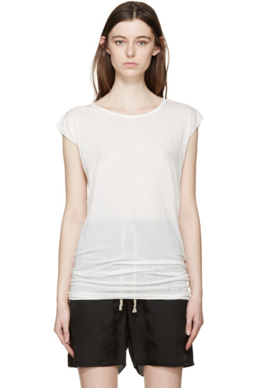 Rick Owens Drkshdw - White Long T-Shirt