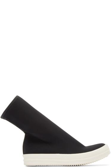 Rick Owens Drkshdw - Black Scubasock High-Top Sneakers