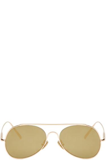 Acne Studios - Gold Small Spitfire Sunglasses