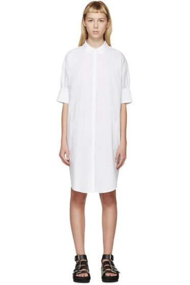 Acne Studios - White Lash Tech Pop Shirt Dress