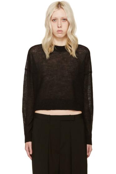 Acne Studios - Black Alpaca Ryssa Sweater