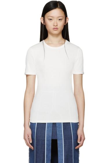 Acne Studios - White Ribbed Calypsa T-Shirt