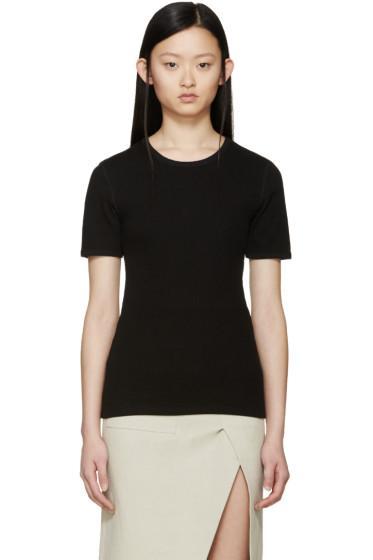 Acne Studios - Black Ribbed Calypsa T-Shirt