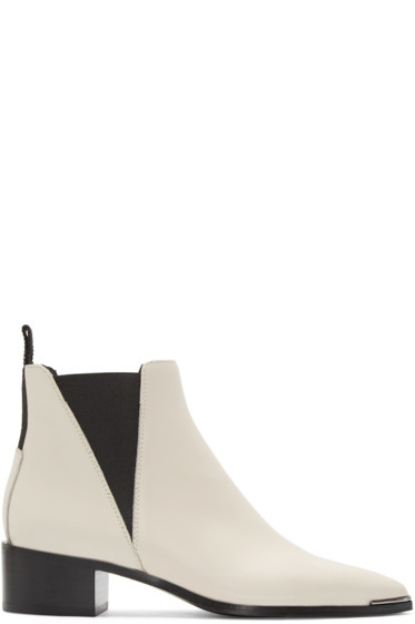 Acne Studios - White Jensen Smooth Ankle Boots