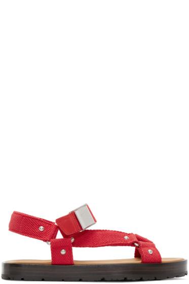 Acne Studios - Red Ester Sandals