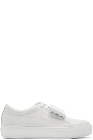 Acne Studios - White Grained Leather Adriana Sneakers