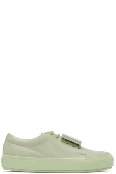 Acne Studios - Green Leather Adriana Turnup Sneakers