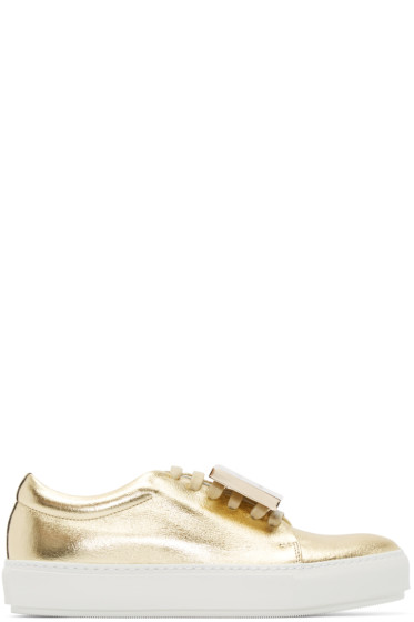 Acne Studios - Gold Leather Adriana Sneakers