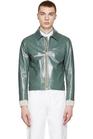 Acne Studios - Green Leather Adrien Jacket