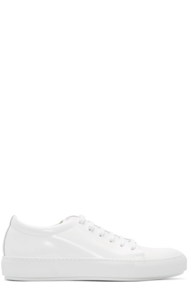Acne Studios - White Patent Leather Adrian Sneakers