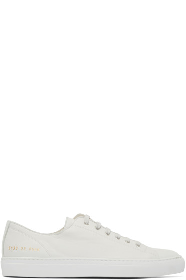 Common Projects - White Tournament Sneakers