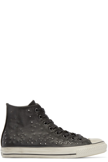 Converse by John Varvatos - Black Leather Studded High-Top