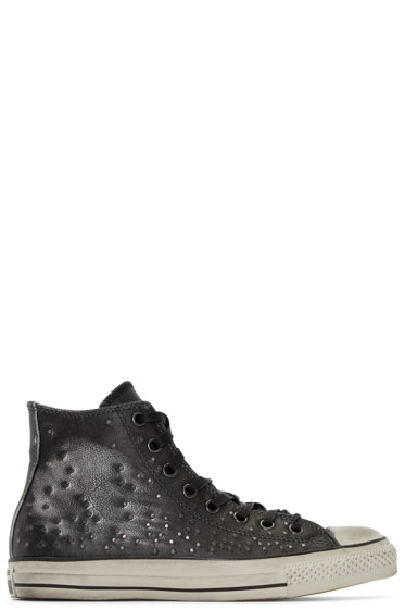 Converse by John Varvatos - Black Leather Studded High-Top Sneakers