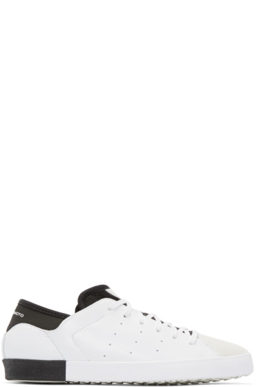 Y-3 - White Smooth Court Sneakers