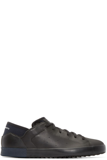 Y-3 - Black Smooth Court Sneakers