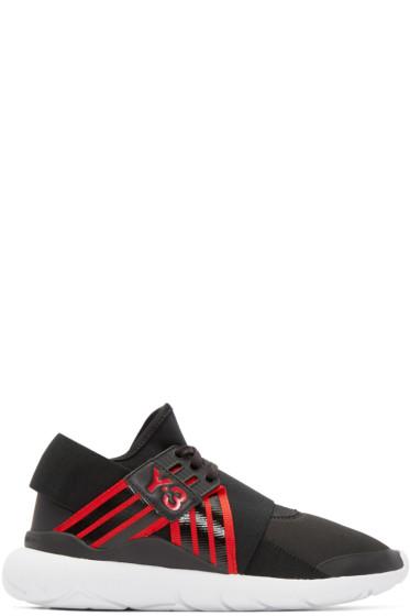 Y-3 - Black & Red Qasa Elle Sneakers