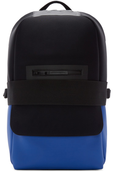 Y-3 - Black & Blue Neoprene Qasa Backpack